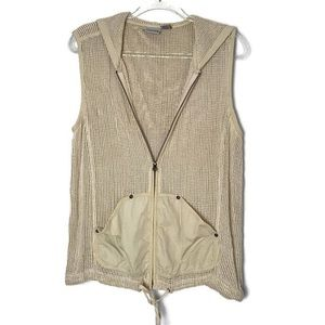 Chico's Knit Zip up Hooded Vest. Size 2 (Large)